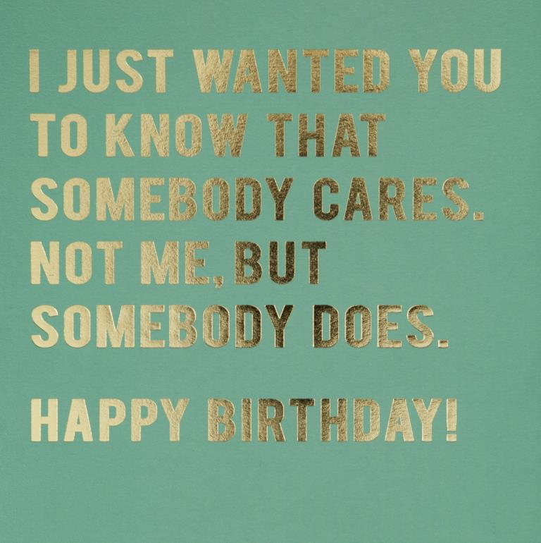 Somebody Cares Birthday Card