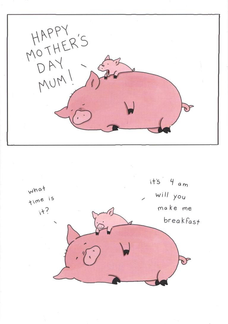 Piggies Mother's Day Card
