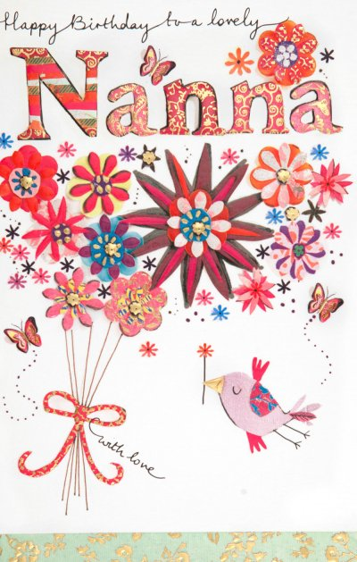 Lovely Nanna Birthday Card