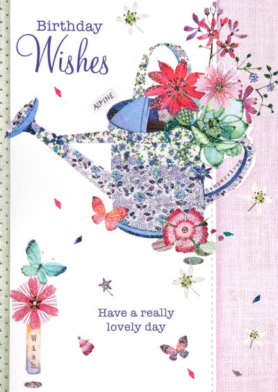 Watering Can Wishes Birthday Card