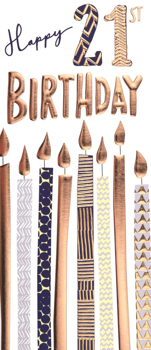 Candles 21st Birthday Card