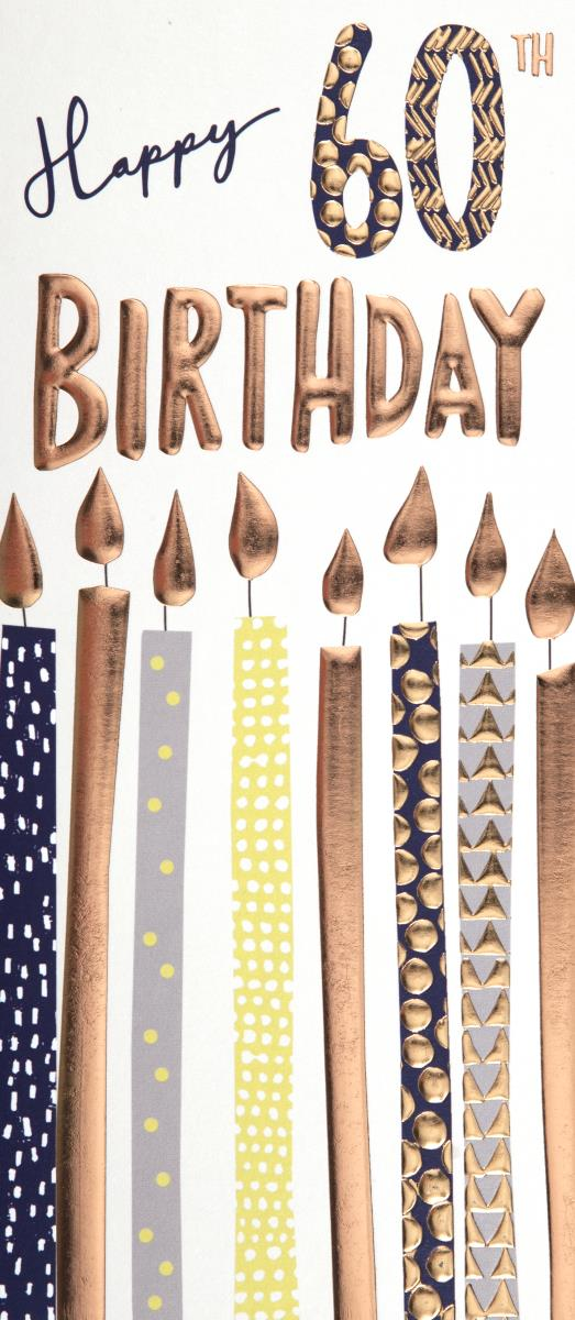 Candles 60th Birthday Card