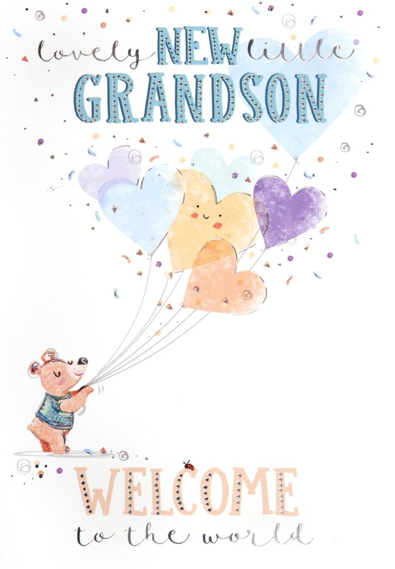 New Grandson New Baby Card