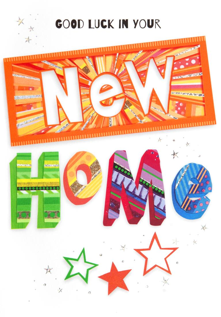 Neon New Home Card