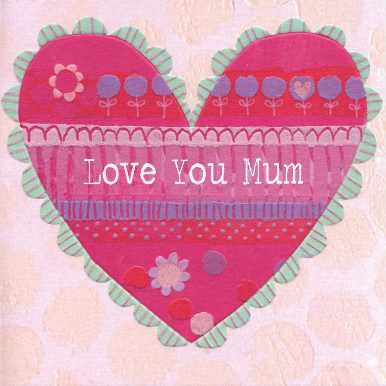 Love Heart Mothers Day Card