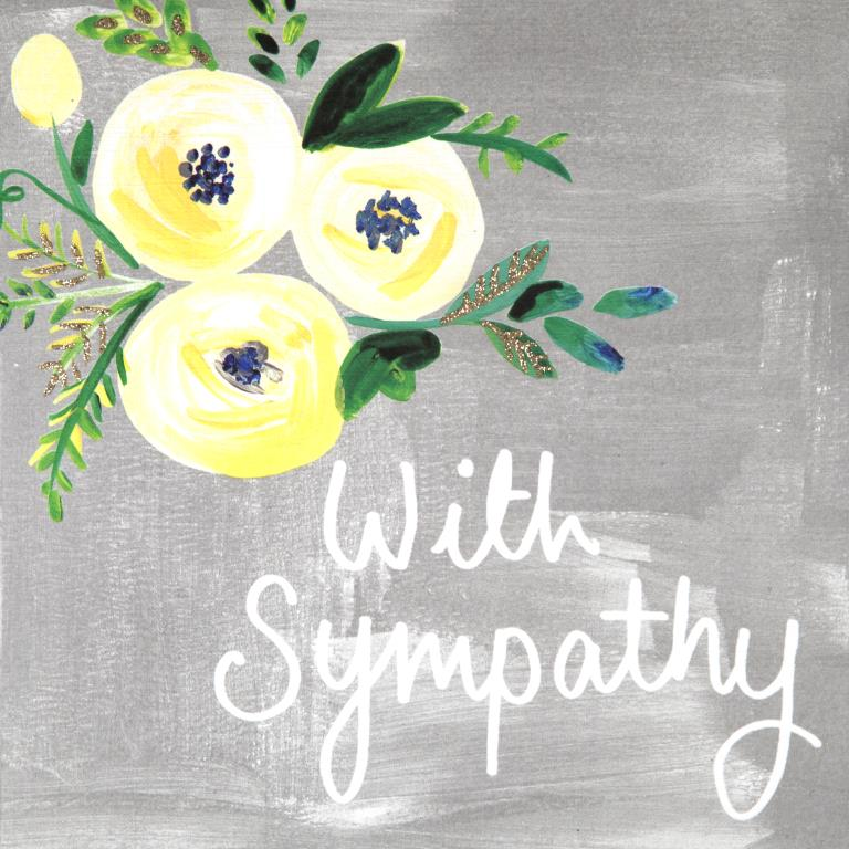 Yellow Flowers Sympathy Card