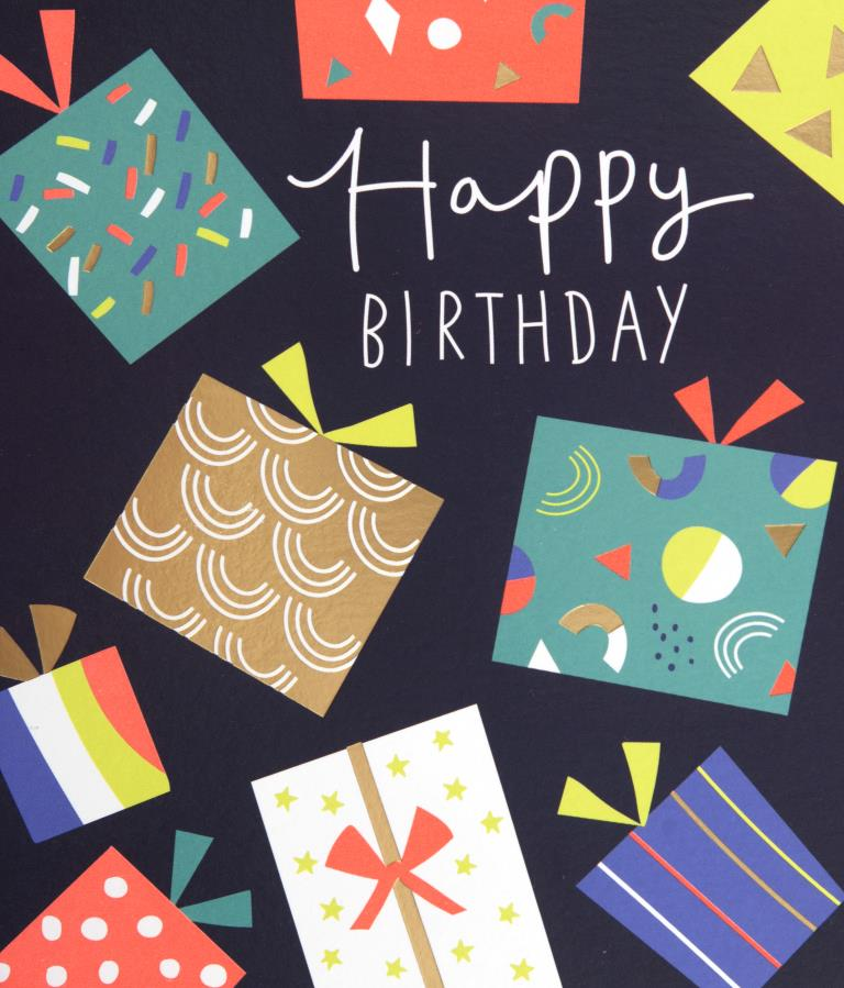 Presents Birthday Card