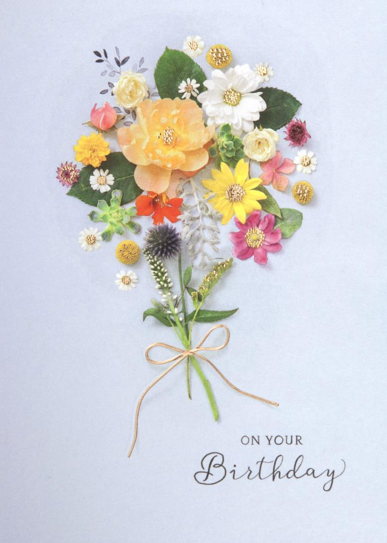 Flower Bouquet Birthday Card