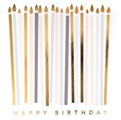 Gold Candles Birthday Card