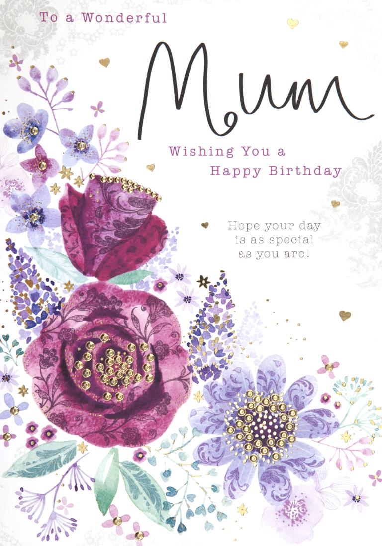 Wonderful Mum Birthday Card