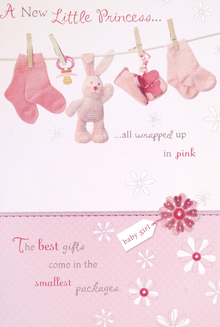 Little Princess New Baby Girl Card