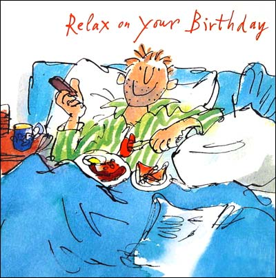 Breakfast In Bed Birthday Card