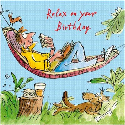 Relaxing Afternoon Birthday Card