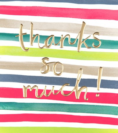 Stripes Thank you Card