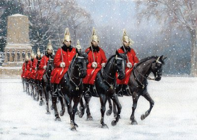 Horse Guards Personalised Christmas Card