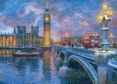 Westminster at Christmas Personalised Christmas Card