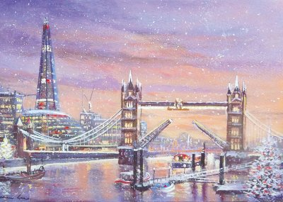 Tower Bridge and the Shard Personalised Christmas Card