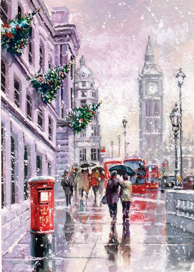 A Winters Day in London Personalised Christmas Card