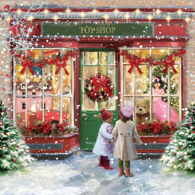 Toy Shop Personalised Christmas Card