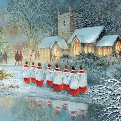 Midnight Choir Personalised Christmas Card