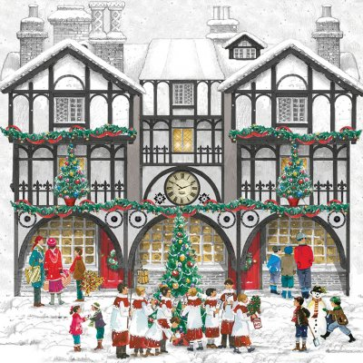 Traditional House Personalised Christmas Card