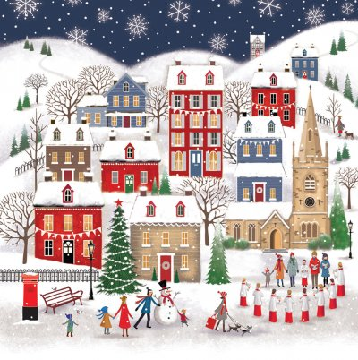Village and Boys Choir Personalised Christmas Card
