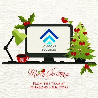 Festive Office Front Personalised Christmas Card