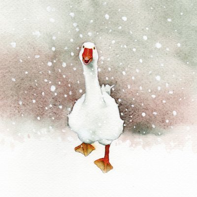 Loose Goose Personalised Christmas Card