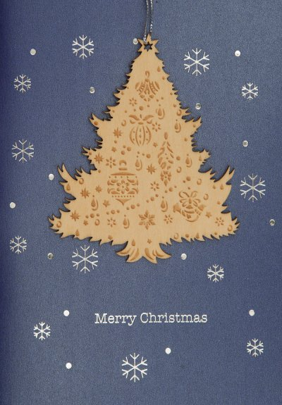 Wooden Tree Christmas Card