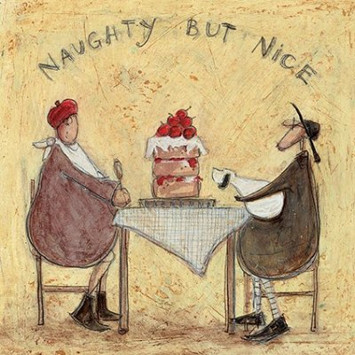 Naughty but Nice Greeting Card