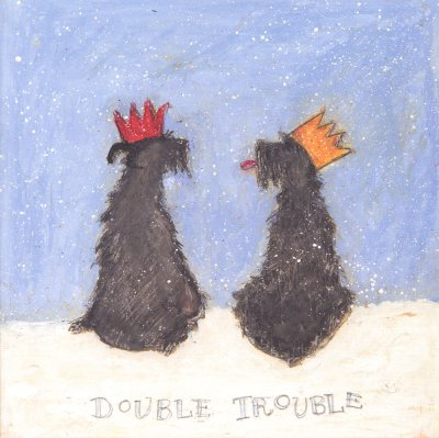 Double Trouble Christmas Card