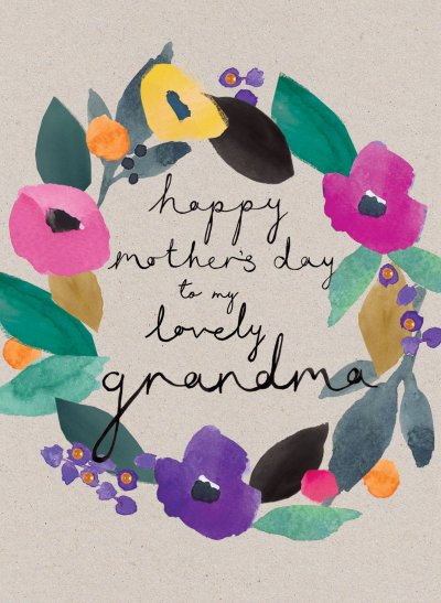 Grandma Wreath Mother's Day Card