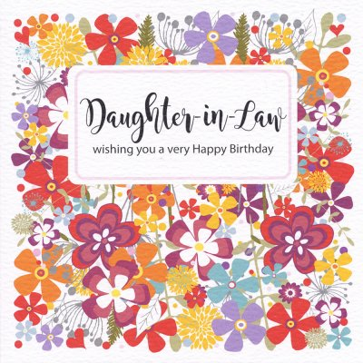 Floral Daughter in law Birthday Card