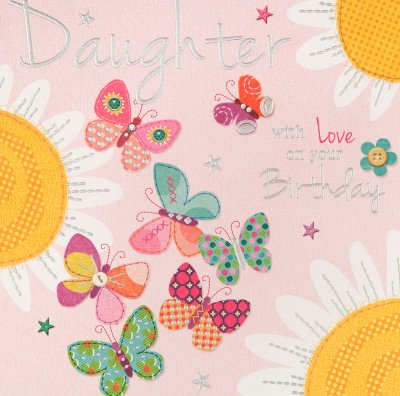 Daisies Daughter Birthday Card