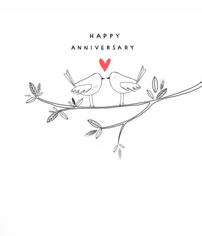 Birds on a Branch Anniversary Card