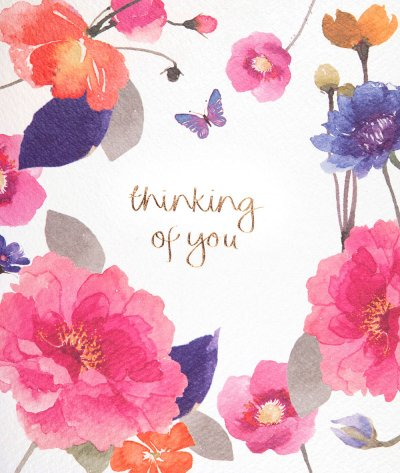 Peony Bloom Thinking of you Card