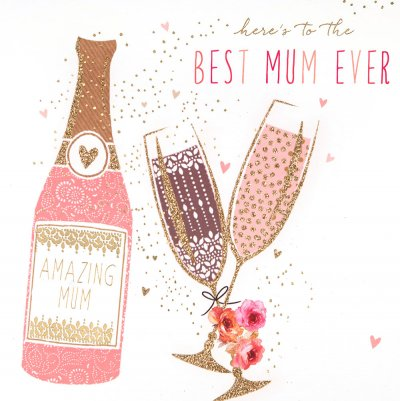 Prosecco Mother's Day Card