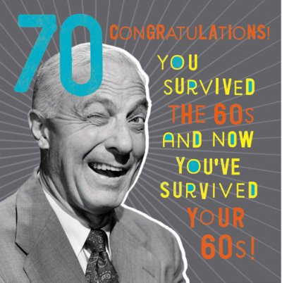 You Survived 70th Birthday Card