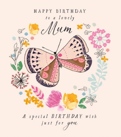 Butterfly Mum Birthday Card
