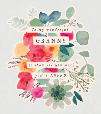 Floral Bunch Granny Birthday Card