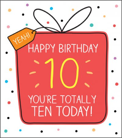 Yeah 10th Birthday Card