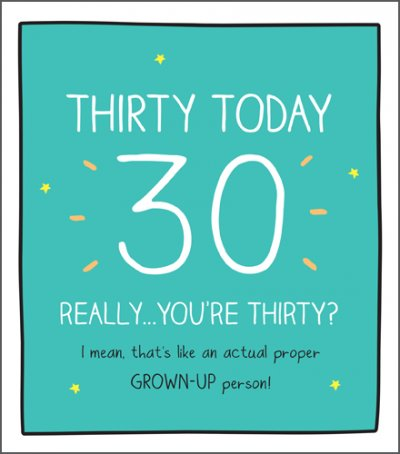 You're Thirty 30th Birthday Card