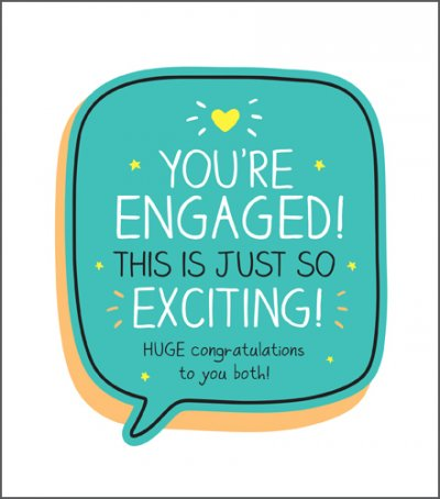 So Exciting Engagement Card