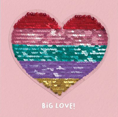 Big Love Reversible Sequin Card