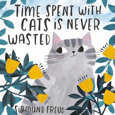 Cat time Greeting Card