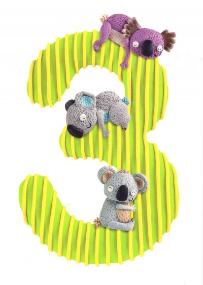 Koalas 3rd Birthday Card