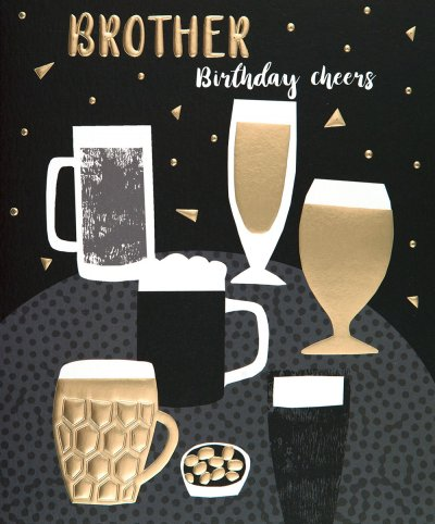Cheers Brother Birthday Card