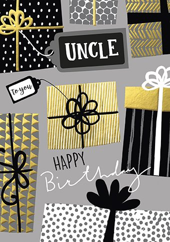 To You Uncle Birthday Card