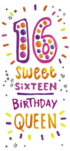 Queen 16th Birthday Card